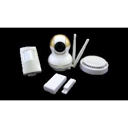 Беспроводной IP-комплект видеонаблюдения с охранными датчиками SVIP-KIT300